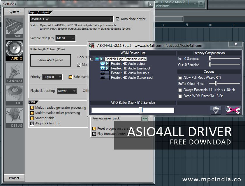 ASIO4All - Universal ASIO Driver Free Download | asio for all