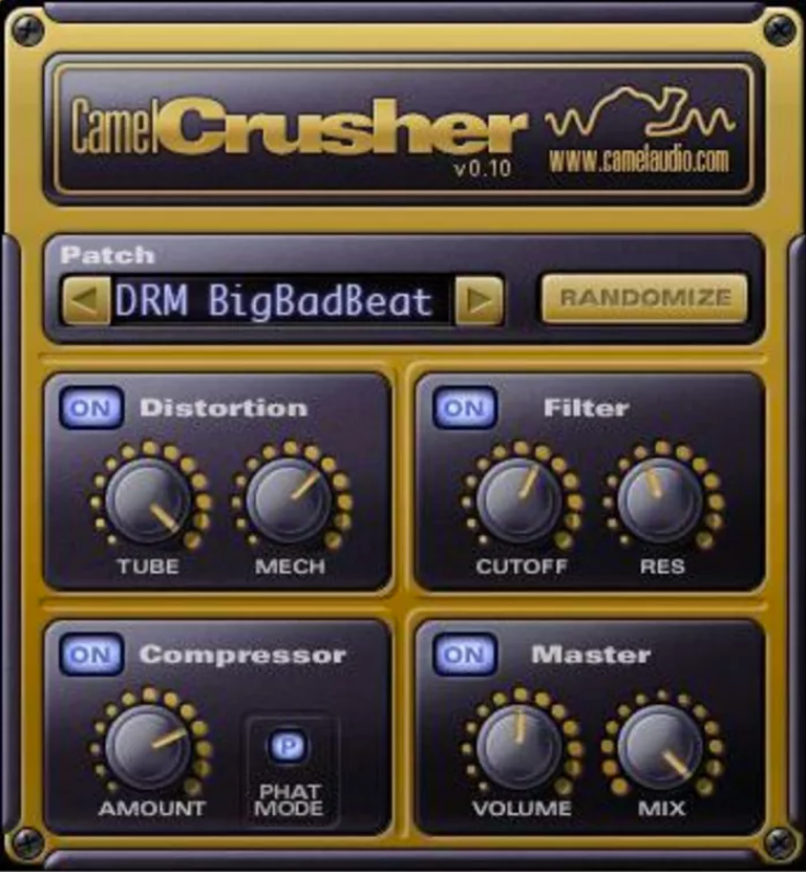 Camel Crusher VST Plugin Download | Camel Audio - WIN / MAC